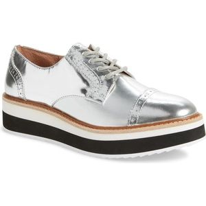 Halogen x Atlantic Pacific silver flatform oxfords
